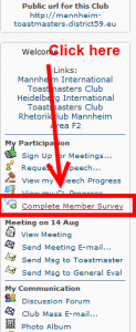 Complete the member survey