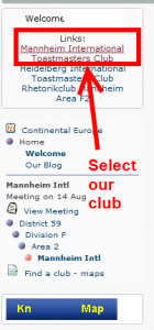 Select our club