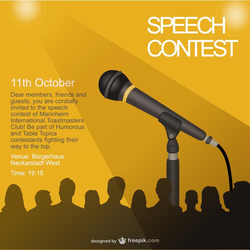 speech contest certificate template - 11th october speech contest mannheim international